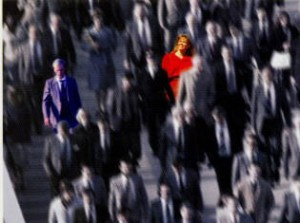 woman-highlighted-in-a-crowd