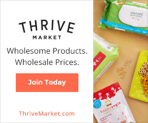 Thrive Market offers best selling natural and organic foods at wholesale prices.